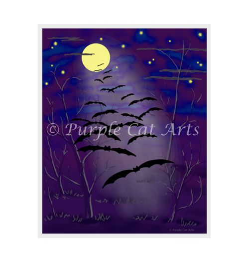 The Bewitching Hour by Laura Cirra of Purple Cat Arts