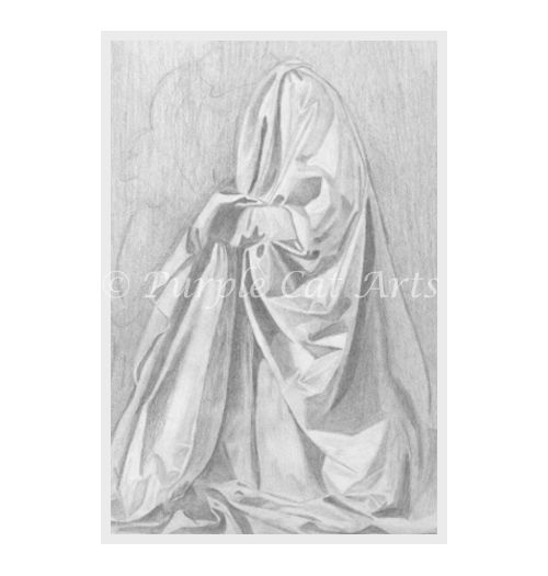 Study of a Drapery by Laura Cirra of Purple Cat Arts